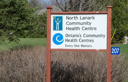 North Lanark Community Health Center Road Sign